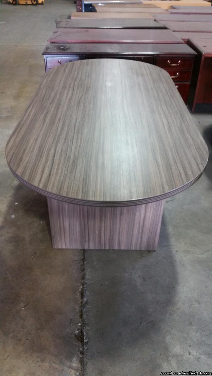 8' Urban Walnut Laminate Conference Table