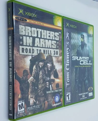 XBOX Original Game Lot - Splinter Cell & Brothers In Arms - Tested