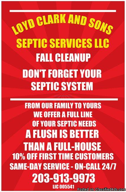 SEPTIC SERVICES FAIRFIELD AND NEW HAVEN COUNTY
