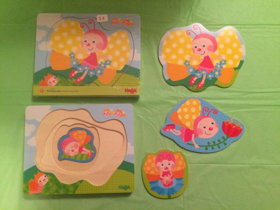 HABA WOODEN Puzzle Butterfly Magic, Age 1+