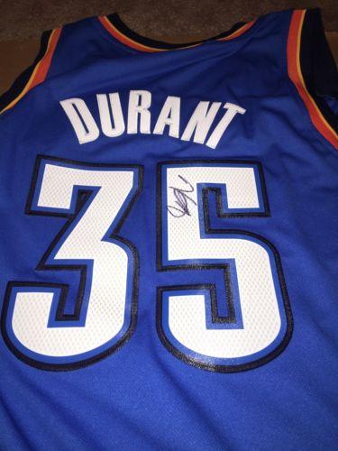 Kevin Durant Signed Oklahoma City Thunder Adidas Jersey Swingman Size Large NBA