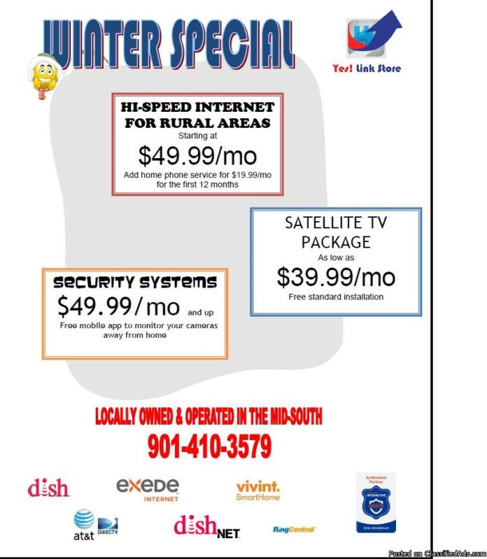 Do you need satellite tv or high speed internet?