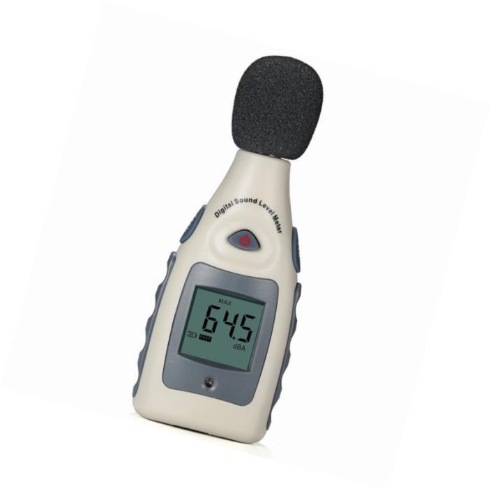 Sound Level Meter, Portable Digital Sound Level and Decibel Measuring Meter Test