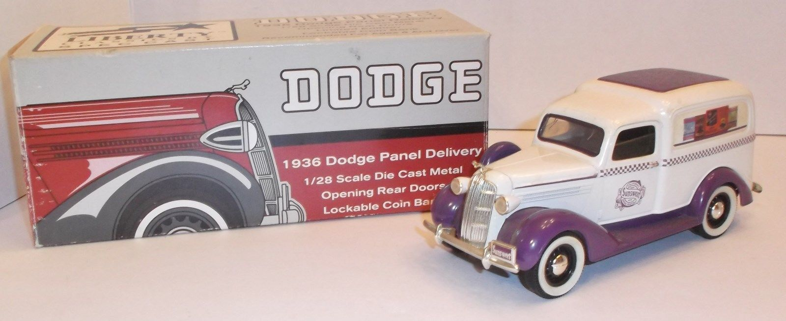 LIBERTY 1936 Dodge Panel Delivery Truck BANK Sunsweet Die-Cast Mint Boxed 1:28