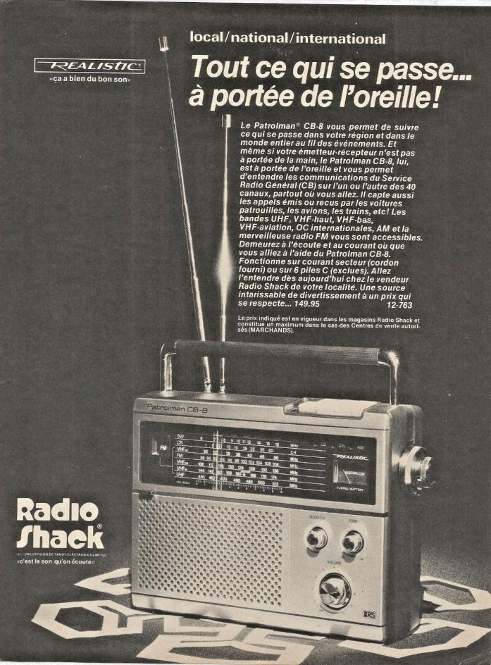 Realistic Patrolman Radio - For Sale Classifieds