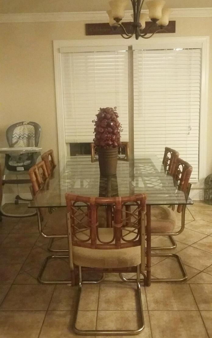 Bamboo dining set
