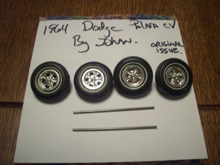 JOHAN 1964 DODGE POLARA ANNUAL PARTS- AMERICAN RACING MAGS/TIRES & AXLES (4)