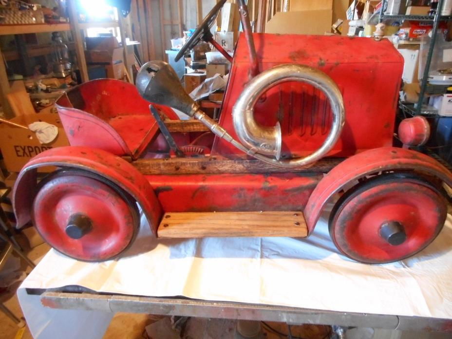 Antique 1920's UHLEN PEDAL CAR AMERICAN NATIONAL?
