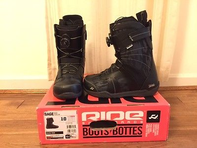 Womens Ride Sage Boa Snowboard Boots Size 10