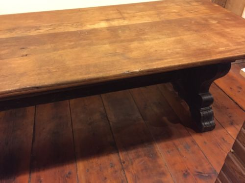 19th Century Harvard University Large Library/Refectory Table