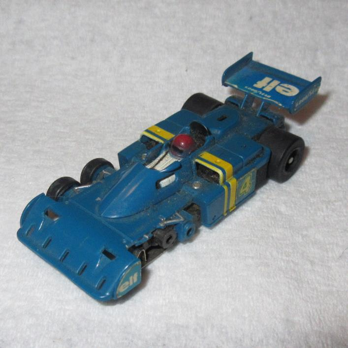 AFX ELF SLOT RACER CAR #4 TYRELL F-1 6 WHEEL SLOT CAR