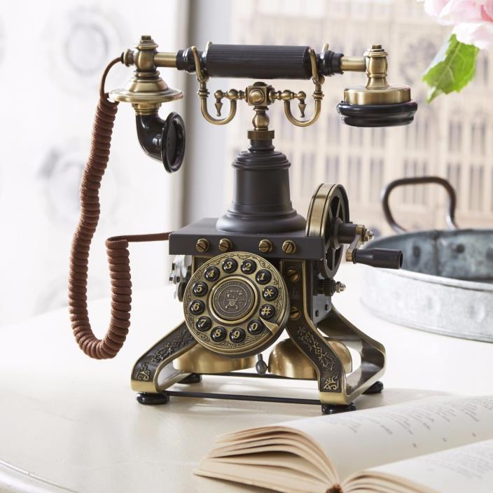 Steampunk Style Touch Tone Phone Historical Replica Eiffel Tower Telephone NEW!