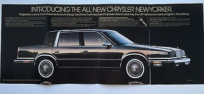 1988 CHRYSLER NEW YORKER ORIGINAL PRINT AD