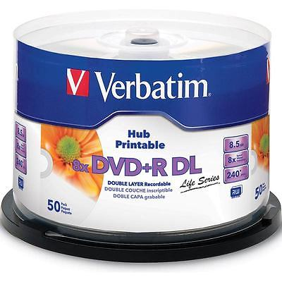 Verbatim DVD+R DL 8.5GB 8X 50PK