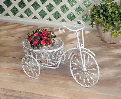 White Bicycle Planter-10018026