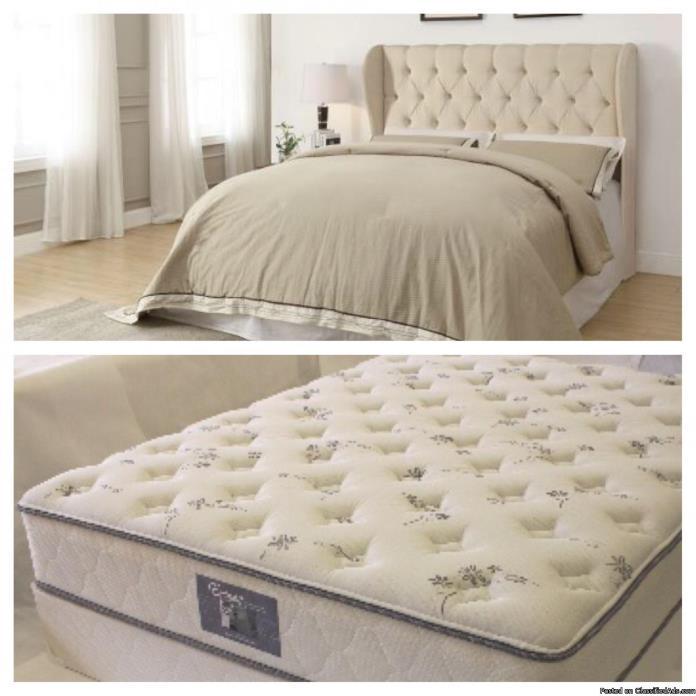 Queen Bed and mattress set
