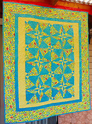 Handmade Quilt Baby Quilt - Crib Quilt - Day Night - READY TO SHIP - Homemade