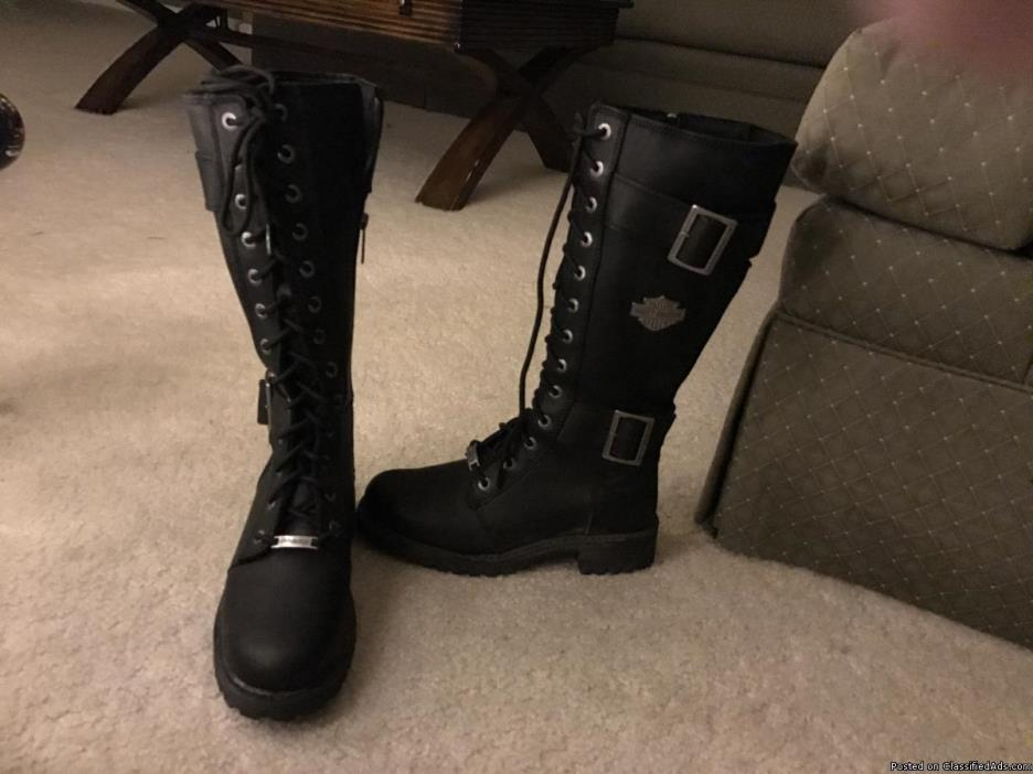 Woman's Harley riding boots