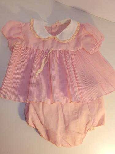 VINTAGE 1950S PINK BABY DRESS RUBBER PANTS FOR COMPOSITION DOLL OUTFIT