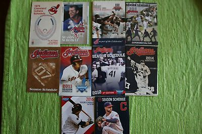 10 Different Cleveland Indians Pocket Schedules