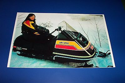 75 SKI-DOO ELAN SNOWMOBILE POSTER  vintage elan Sno-Machine....