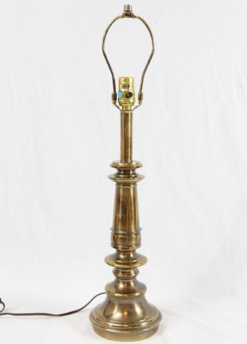 Stiffel Brass Candlestick Style Table Lamp Hollywood Regency