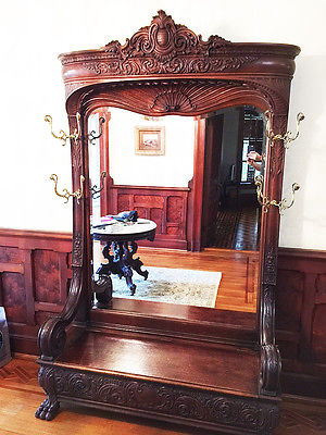 1880 Antique Entry Hall Bench