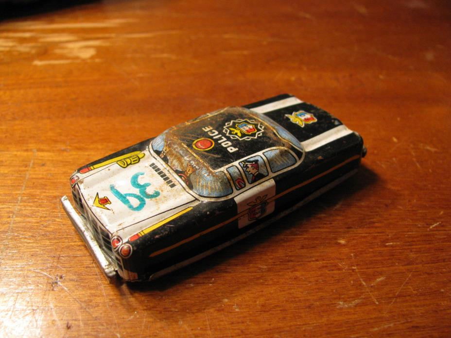 Vintage TN Japan Tin Police Car