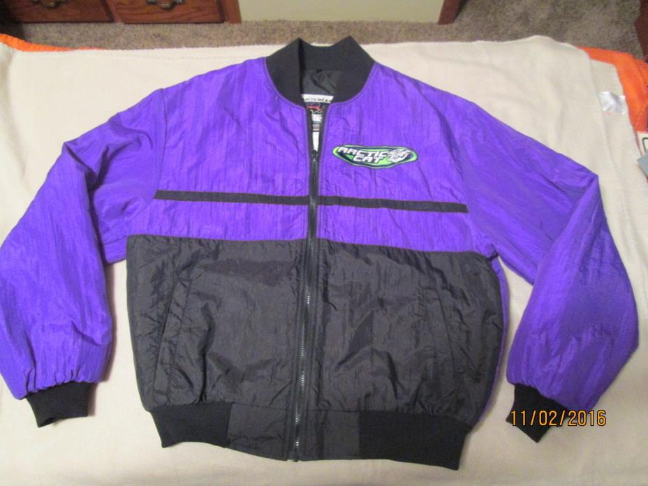 VINTAGE,WOMENS,MED,POLARIS,PURPLE,JACKET,ZIP OUT,ORIGINAL,MADE IN USA