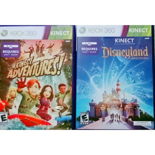 ?LOT of 2 ?XBOX 360 KINECT Games: DISNEYLAND and KINECT ADVENTURES (Microsoft)