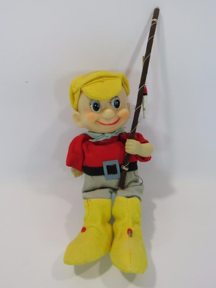 1940's Vintage Doll Fisherman Fishing Pole 9