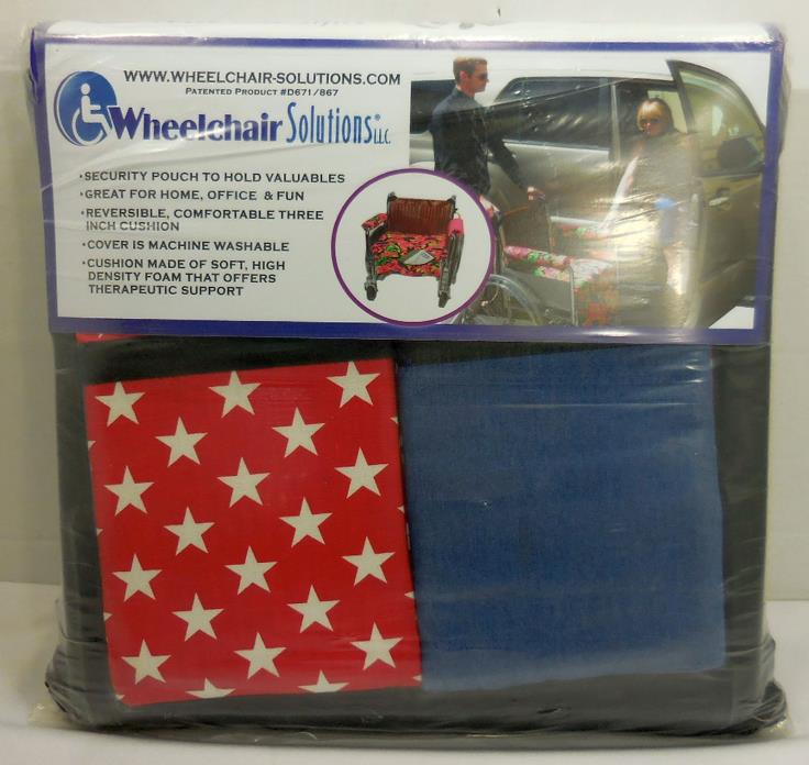 WheelChair Solutions Wheelie Styles Wheel Chair Cover Cushion Patriotic Red 4300