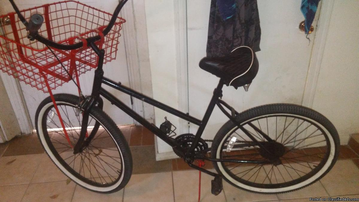 26 inch bike with basket