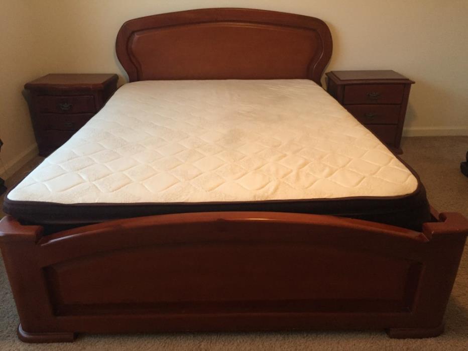 Oak wood Full bed