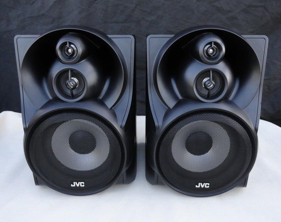 VINTAGE JVC 200 WATTS BLACK SPEAKERS SP-MX-KC58 SHELF / CABINET SOLD AS IS