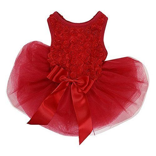 Fancy PawPatu Dog Cat Red Pet Dress Clothes Costume Size Med 13