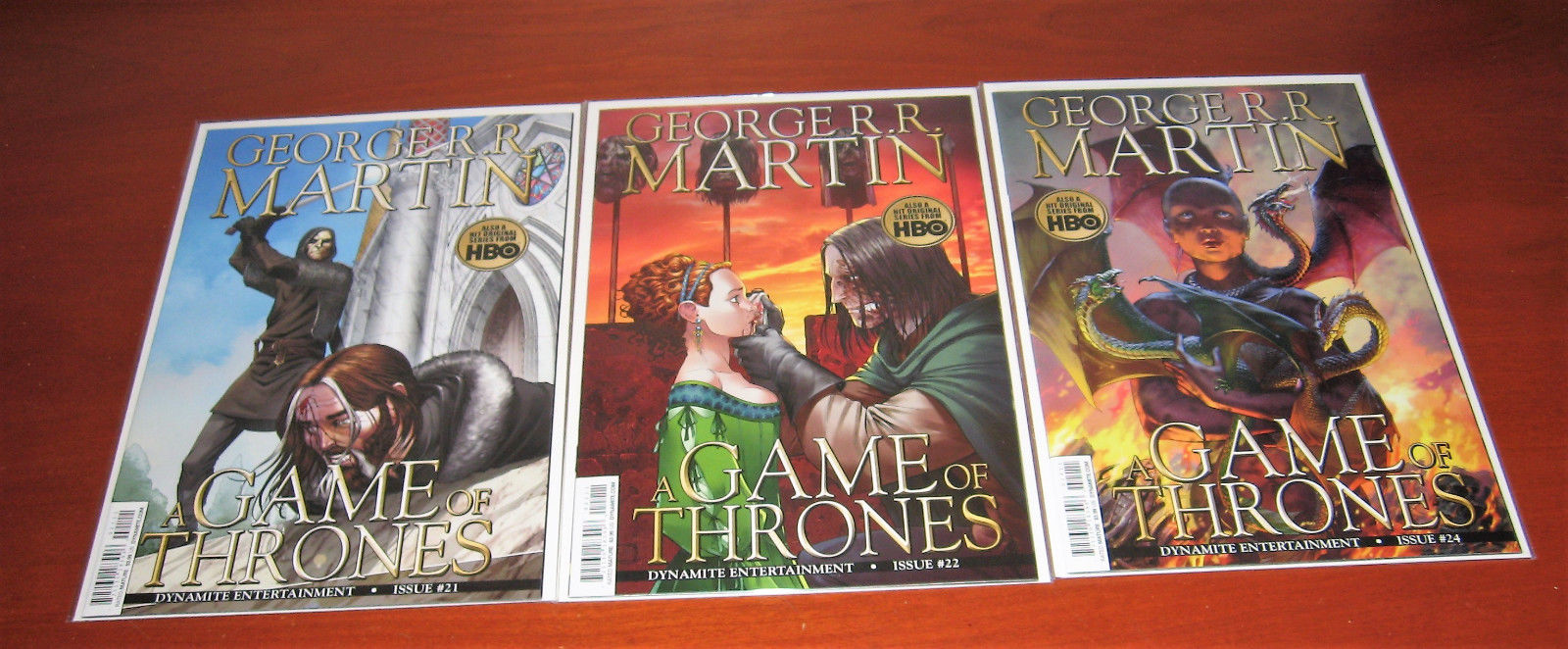 Game of Thrones #21 #22 & #24 High Grade Unread Comic Books First Printings!