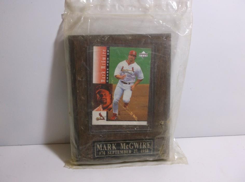 G3    Mark McGwire 70 Home Run Plaque
