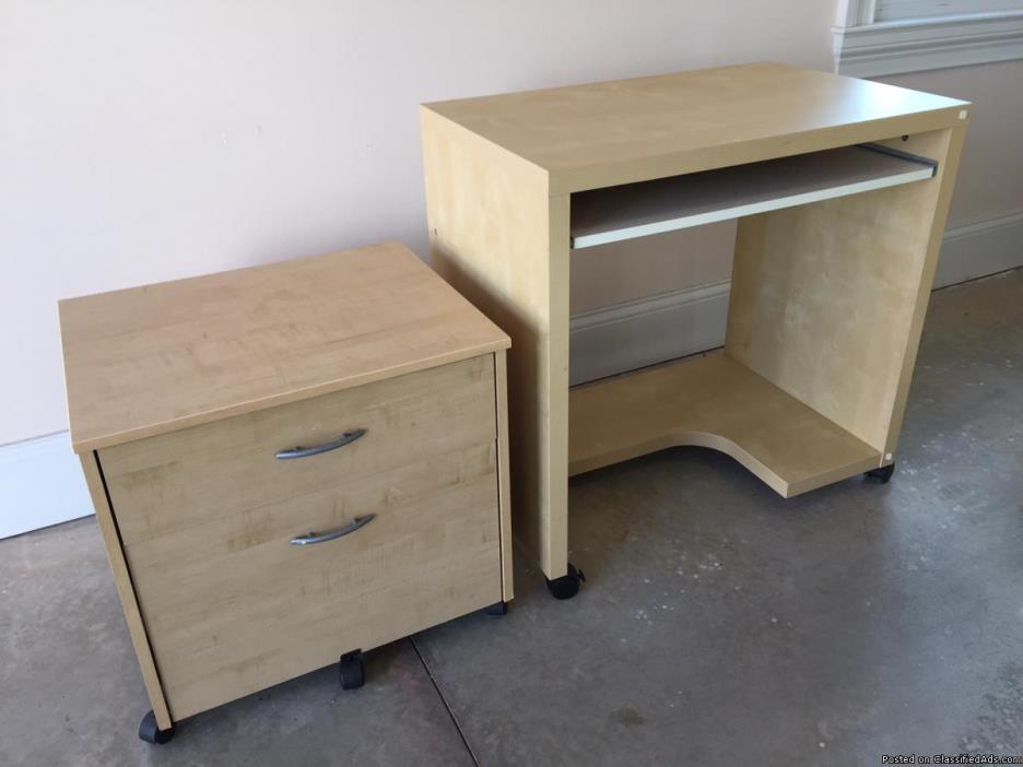 IKEA Desk & File Fabinet