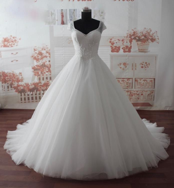 Kathleen's Lace Satin A Line Wedding Dress