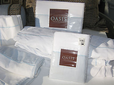 Oasis Peacock Alley Options Queen Set 100% Egyptian Cotton Decor Pillows New