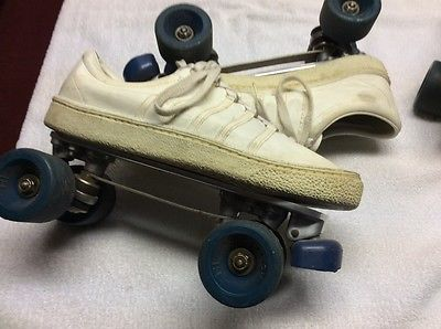 CHICAGO ROLLER SKATES Mounted on K-Swiss Leather Tennis Shoes Men Size 11-1/2