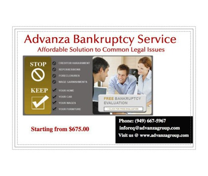 Advanza Bankruptcy Services in Irvine, California