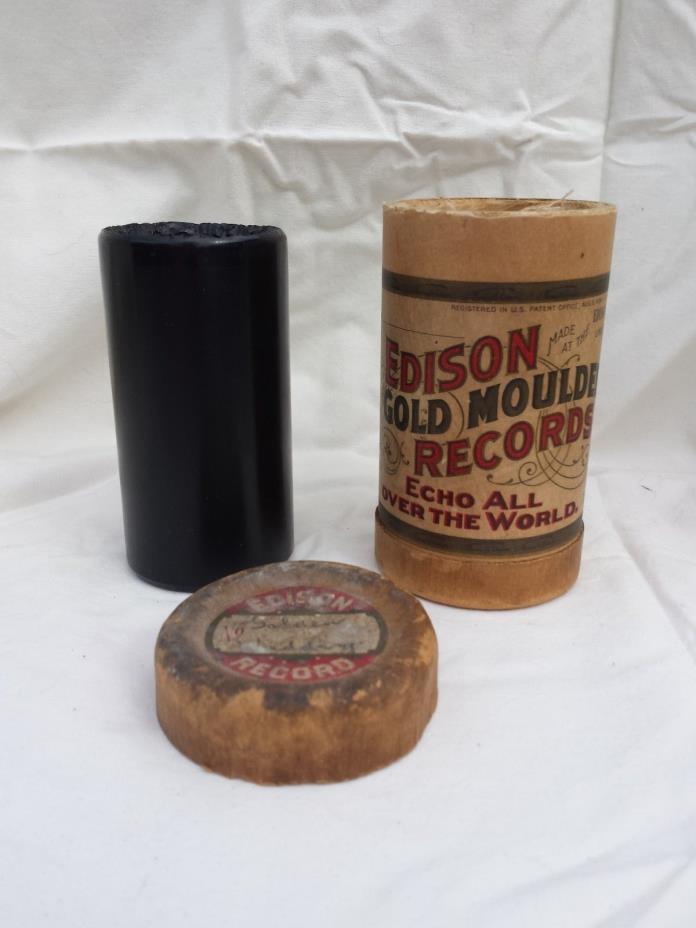 Edison Gold Moulded Cylinder Record: GOLDEN WEDDING