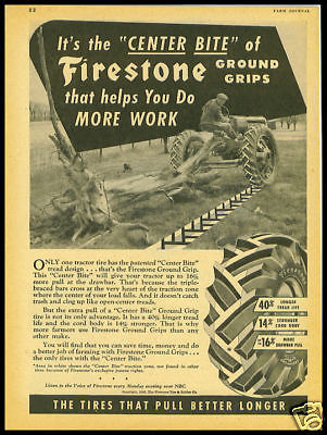 1946 vintage ad for Firestone Tractor Tires