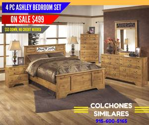 4 PC Ashley Bed Room Set on Sale for Only (9895 Alameda Ave)
