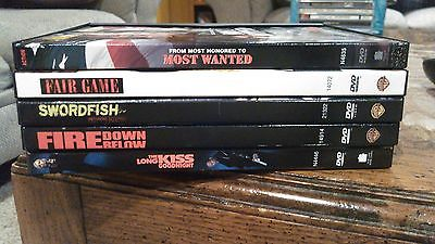 DVD Lot of 5 Action/Thriller Movies (Swordfish, Fire Down Below & More)
