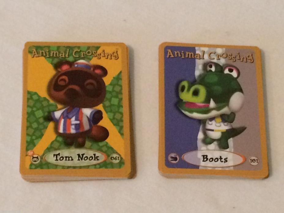 LOT OF 43 Animal Crossing E-Reader Character Cards 061 TOM NOOK 101 BOOTS