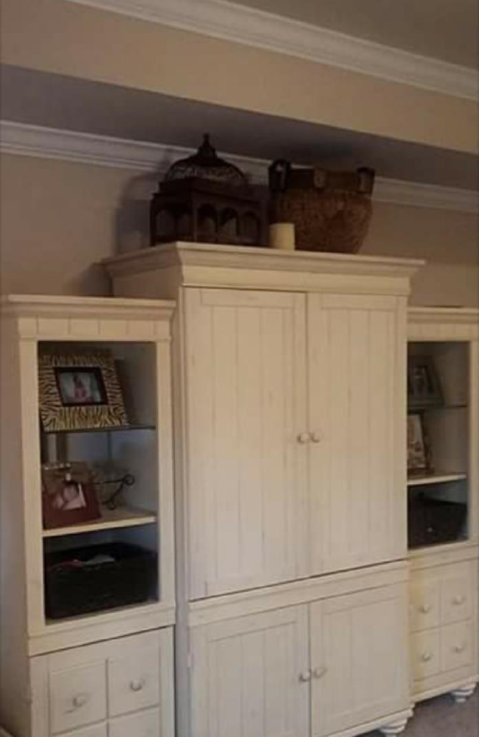 Armoire with bookshelves