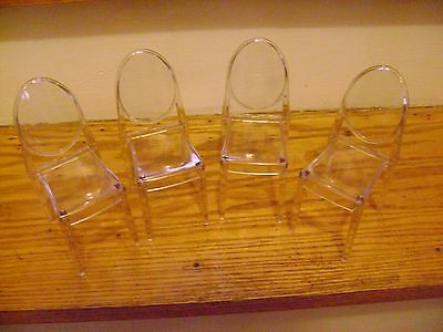 Barbie Clear Acrylic Stackable Chairs Without Arms